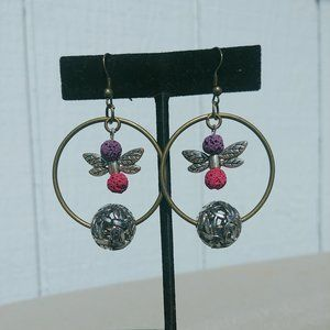 Jewelry - Artisan Dragonfly Hoop Earrings